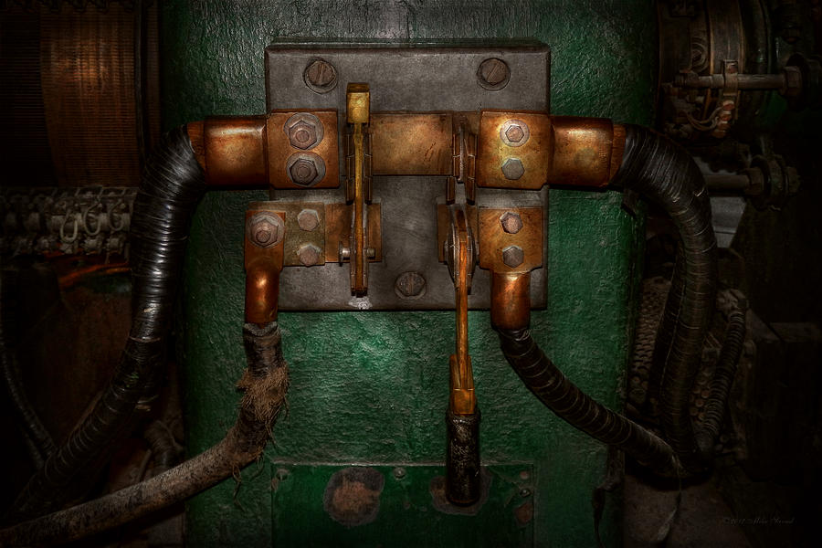 Steampunk Photograph - Steampunk - Electrical - Pull The Switch  by Mike Savad