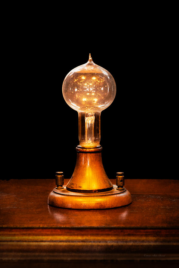 Thomas Photograph - Steampunk - Electricity - Bright Ideas  by Mike Savad