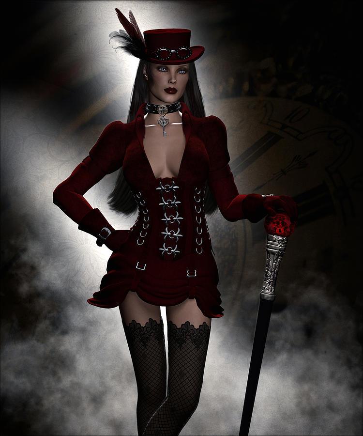 Steampunk Fashion Digital Art by Suzanne Amberson