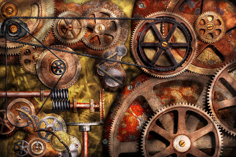 steampunk cogs abstract fantasy - photo #20