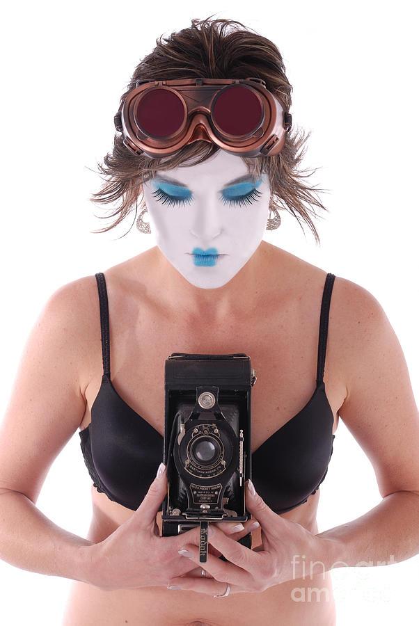 Steampunk Photograph - Steampunk Geisha Photographer II by Jt PhotoDesign