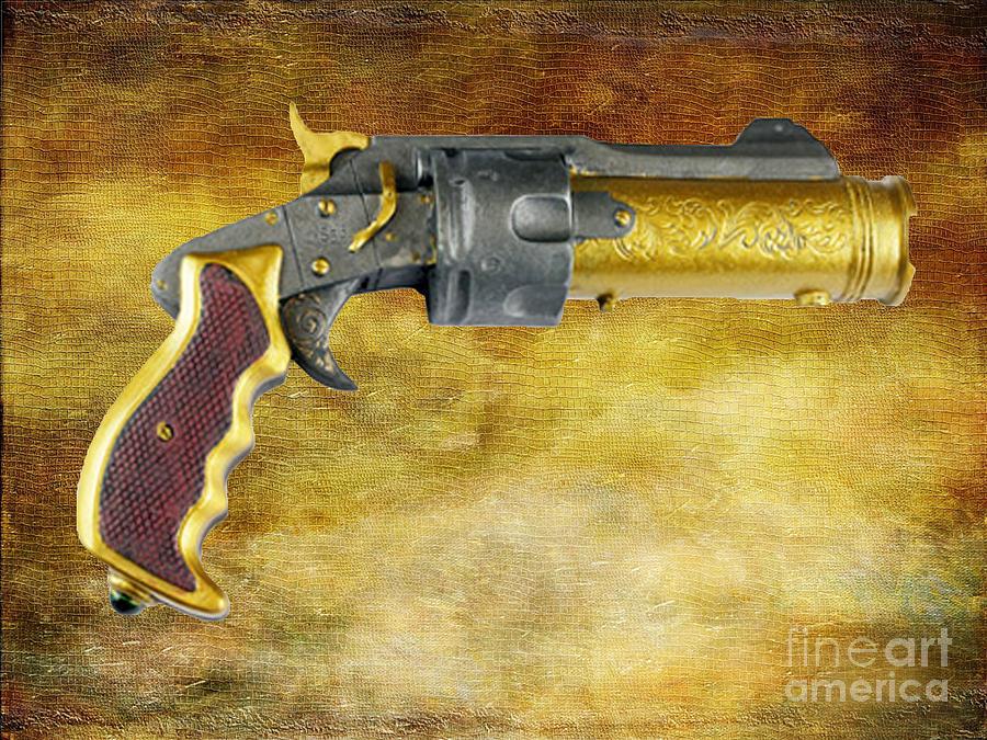 Paul Ward Photograph - Steampunk - Gun - The Hand Cannon by Paul Ward
