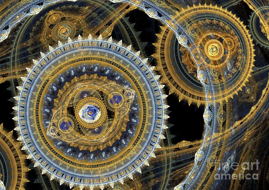 Machinist Digital Art - Steampunk Machine by Martin Capek