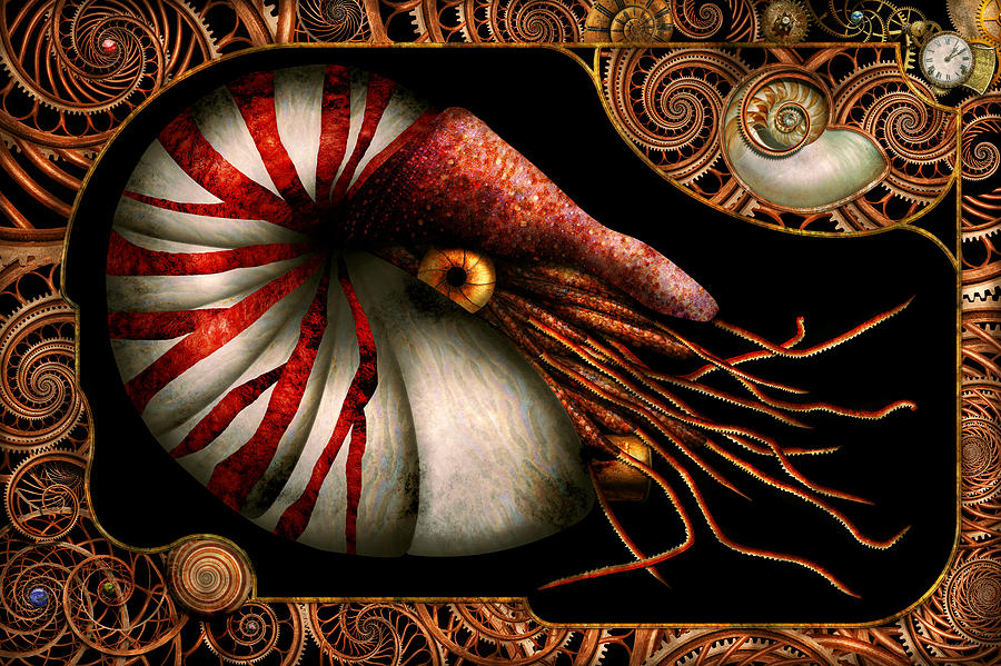 Self Photograph - Steampunk - Nautilus - Coming Out Of Your Shell by Mike Savad