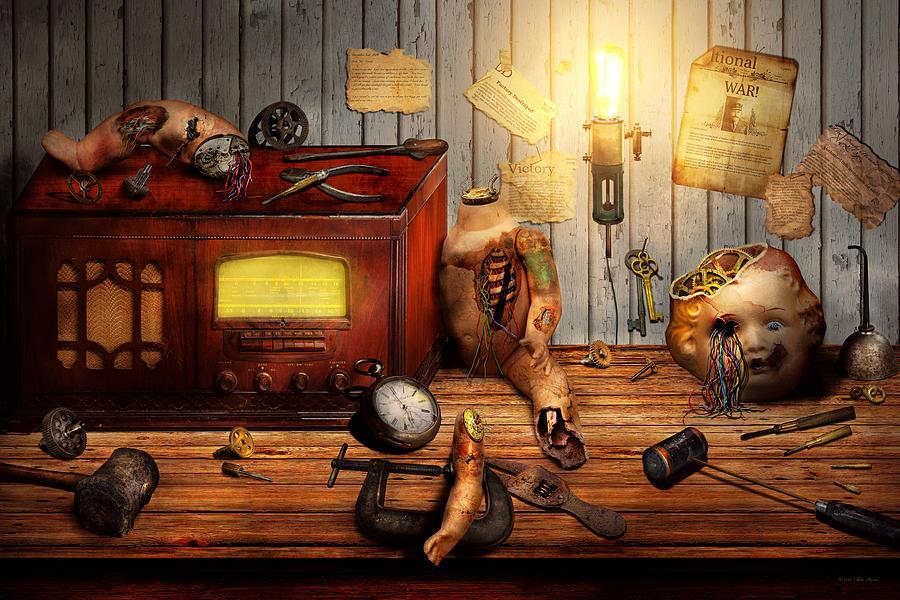 Self Digital Art - Steampunk - Repairing A Friendship by Mike Savad