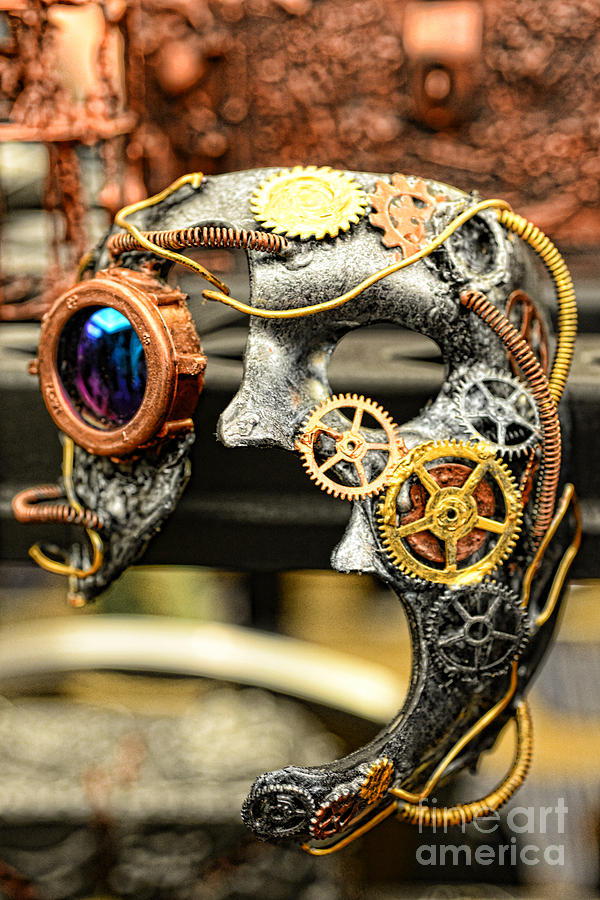 Paul Ward Photograph - Steampunk - The Mask by Paul Ward
