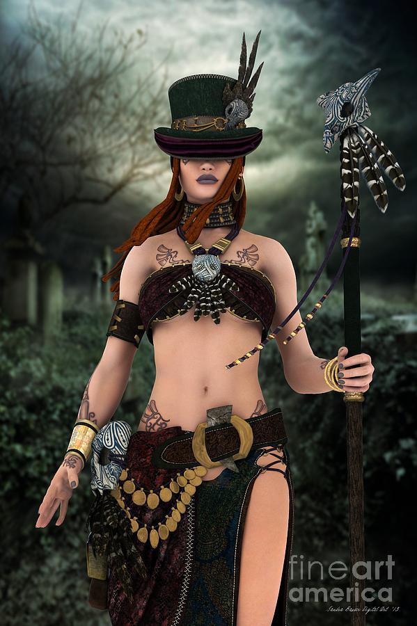 Maman Digital Art - Steampunk Voodoo by Sandra Bauser Digital Art