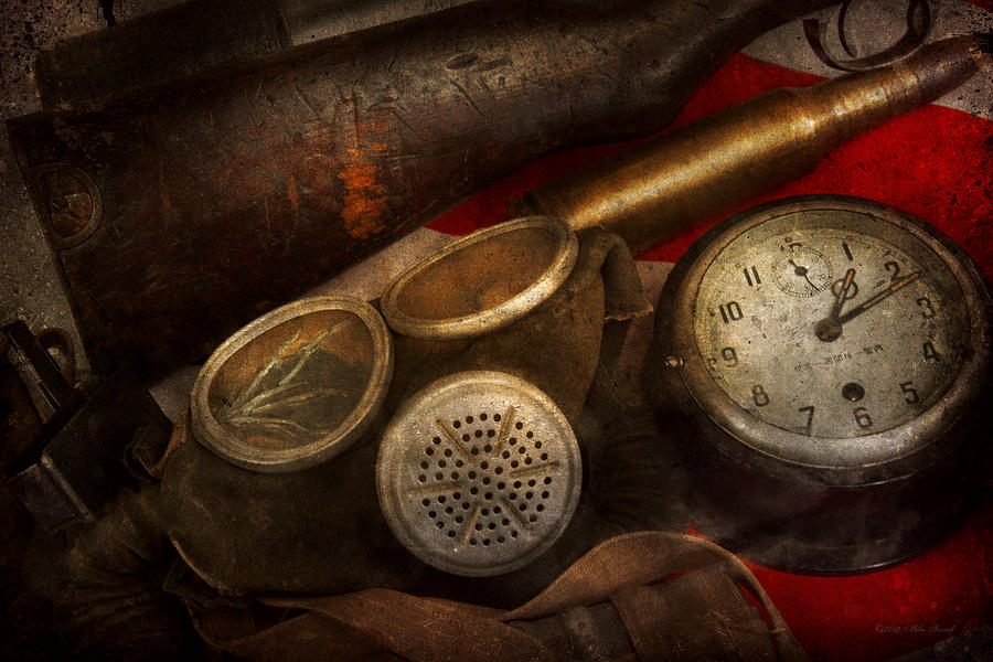 Savad Photograph - Steampunk - War - Remembering The War by Mike Savad