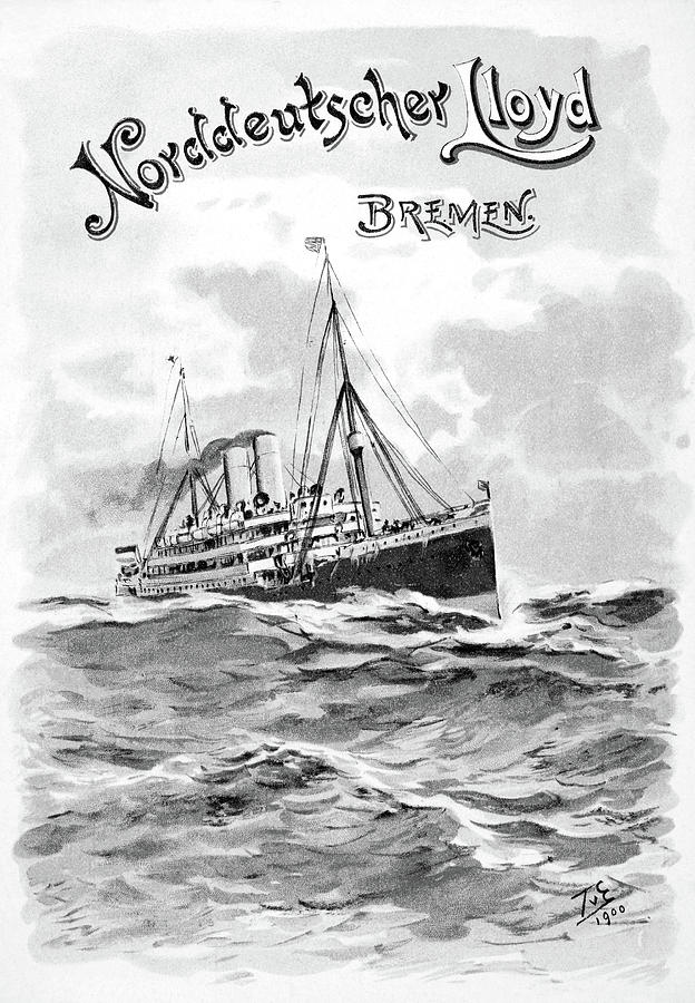 1901 Painting - Steamship Menu, 1901 by Granger