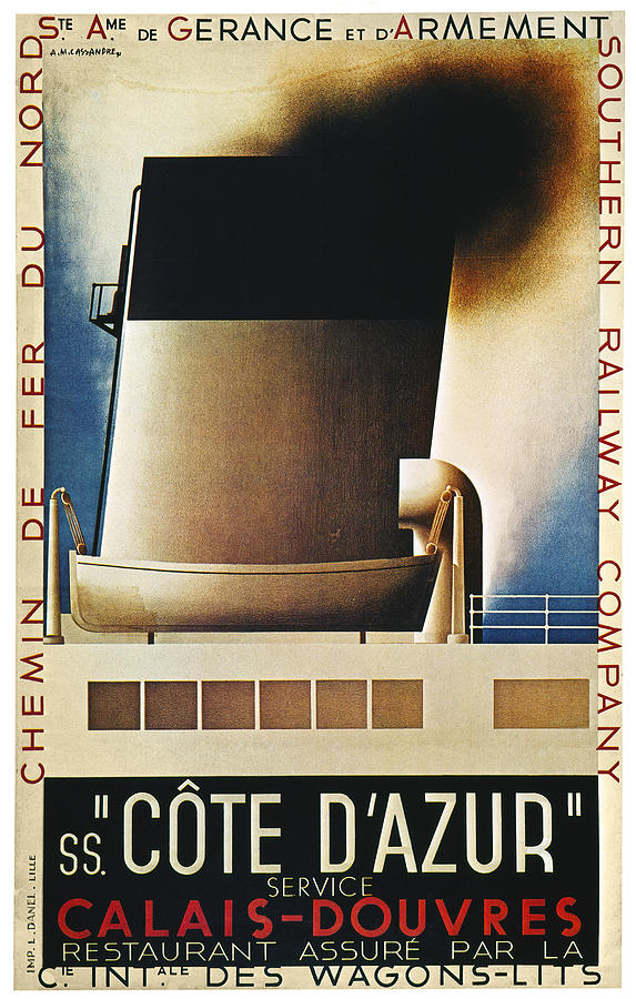 1931 Photograph - Steamship Travel Poster by Granger