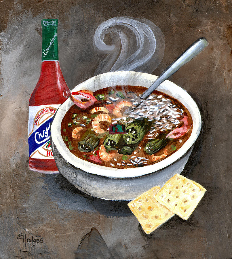 Steamy Gumbo Painting