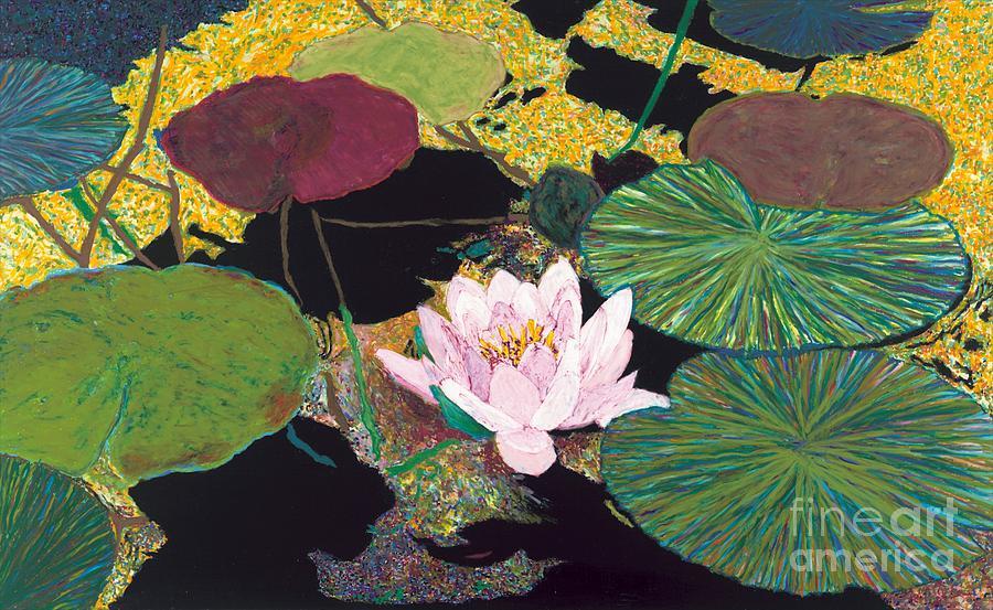 Landscape Painting - Steamy Pond by Allan P Friedlander