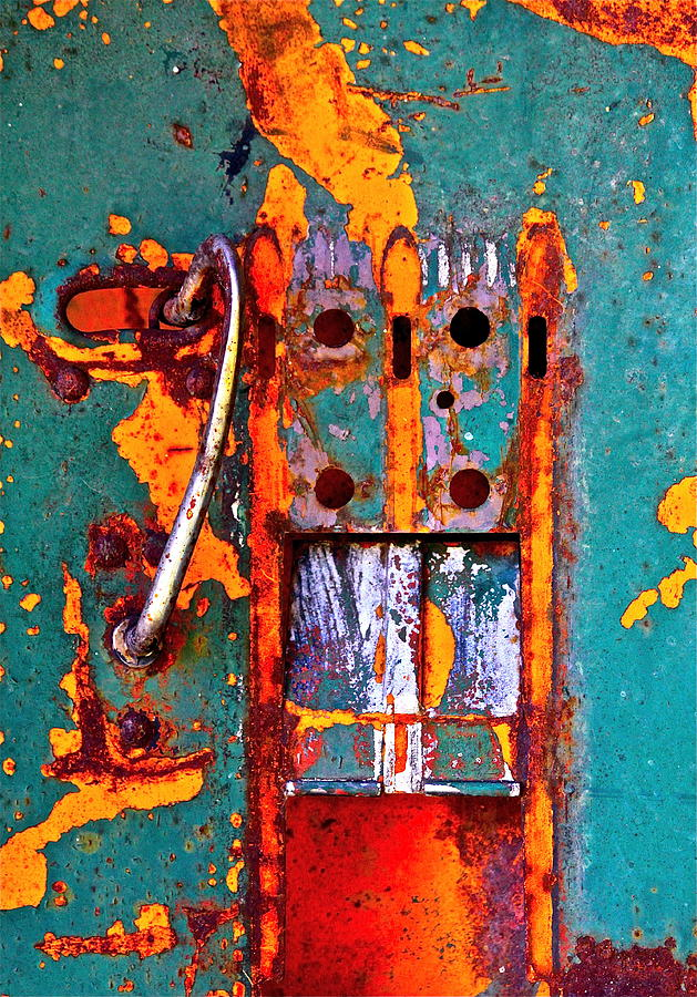 Steel Photograph - Steel Abstraction by Karon Melillo DeVega