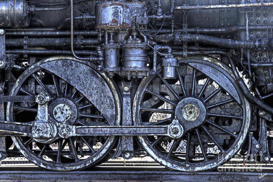 Train Wheels Photograph - Steel by Alana Ranney
