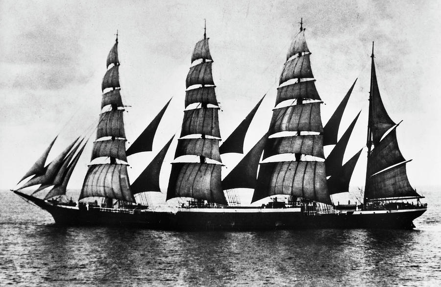 1921 Photograph - Steel Barque, 1921 by Granger