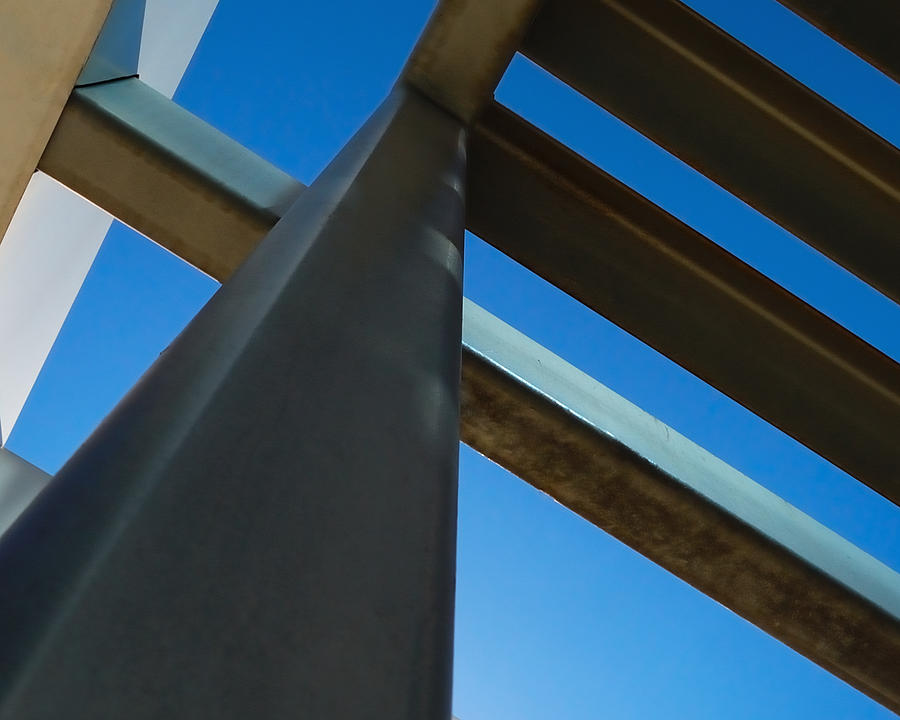 Abstracts Photograph - Steel Blue - Industrial Abstract by Steven Milner