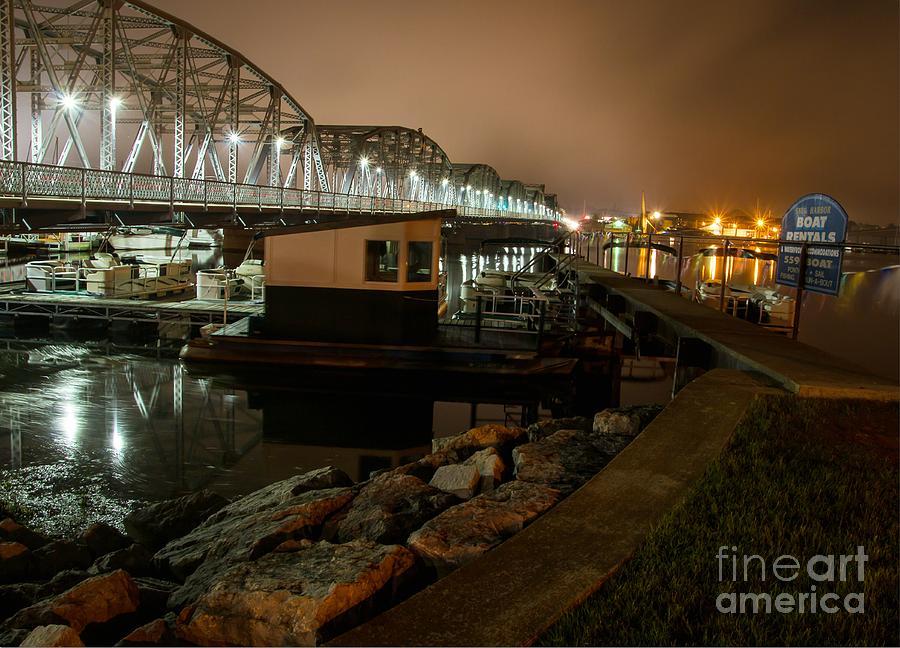 Bridge Photograph - Steel Bridge at Night by Nikki Vig