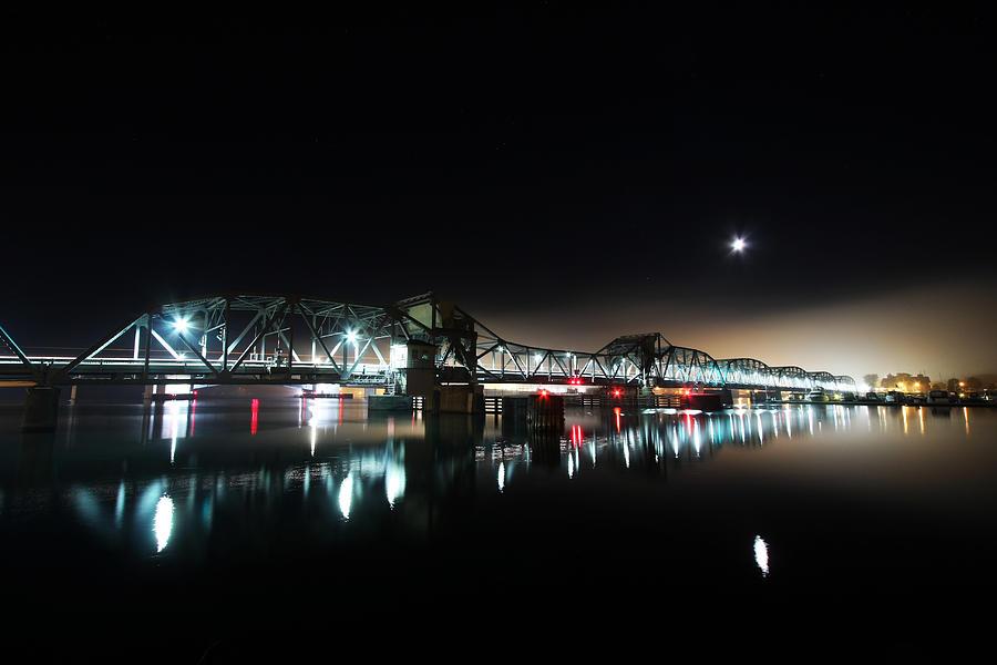 Steel Bridge Photograph - Steel Bridge Moon by Ty Helbach