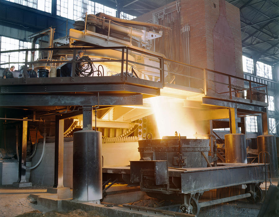 1941 Photograph - Steel Foundry, C1941 by Granger