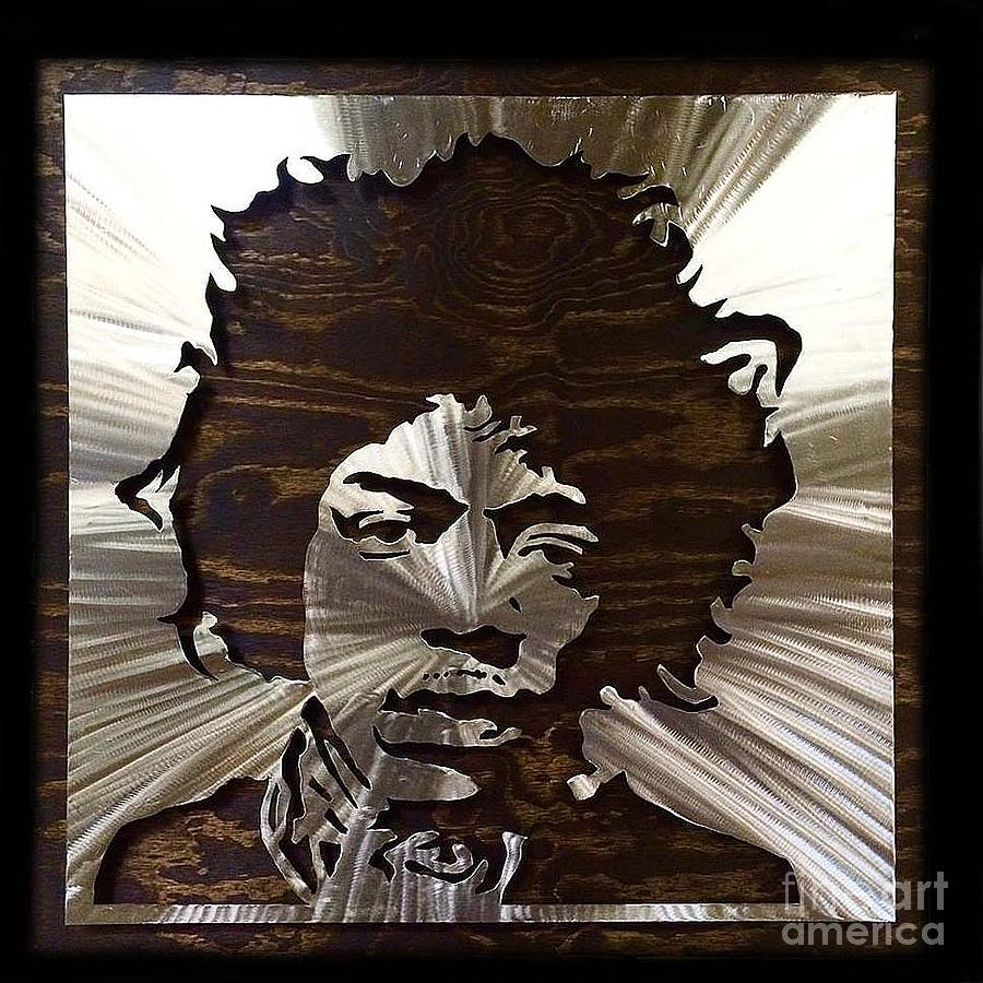 Jimi Mixed Media - Steel Hendrix by Chris Mackie