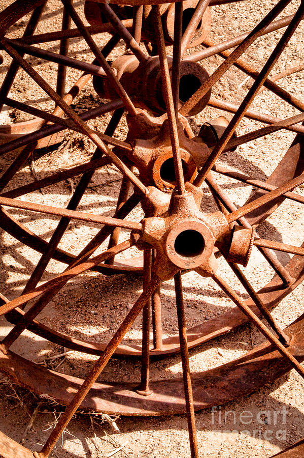 Abstract Photograph - Steel Spokes by Lawrence Burry