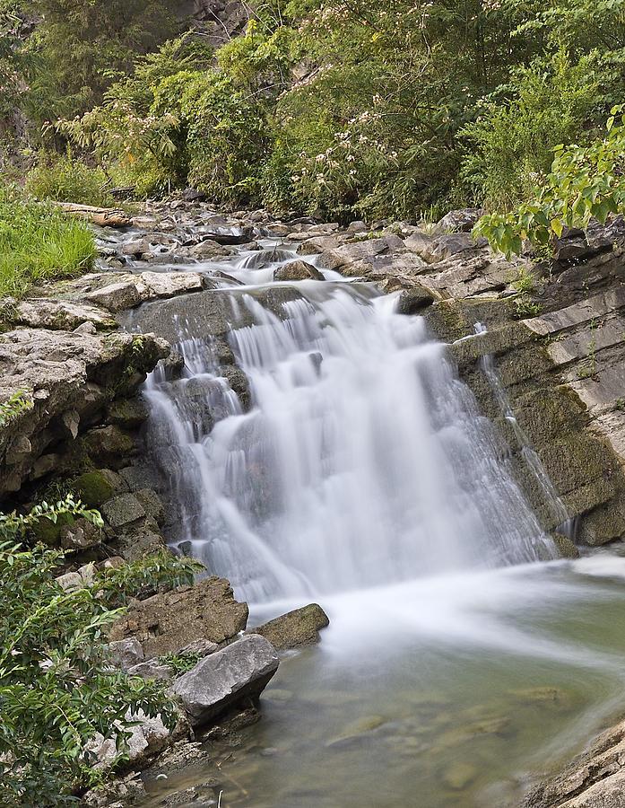 Steele Photograph - Steele Creek Park - Bristol - Waterfall by Brendan Reals