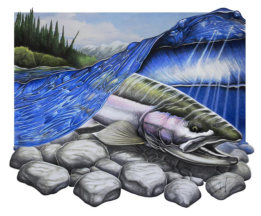 Steelhead Painting - Steelhead Dreams by Nick Laferriere