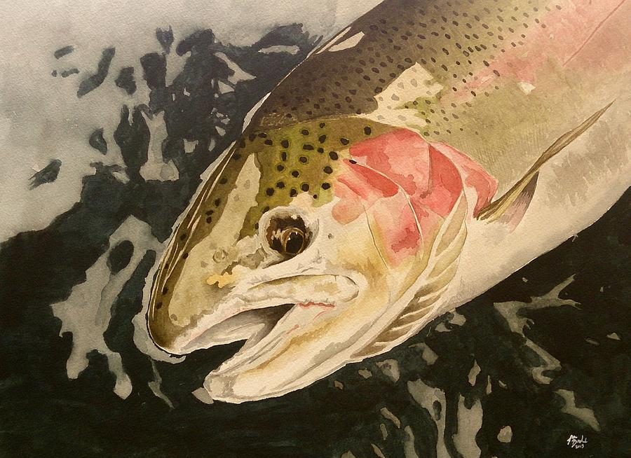 Fish Painting - Steelhead by Jason Bordash