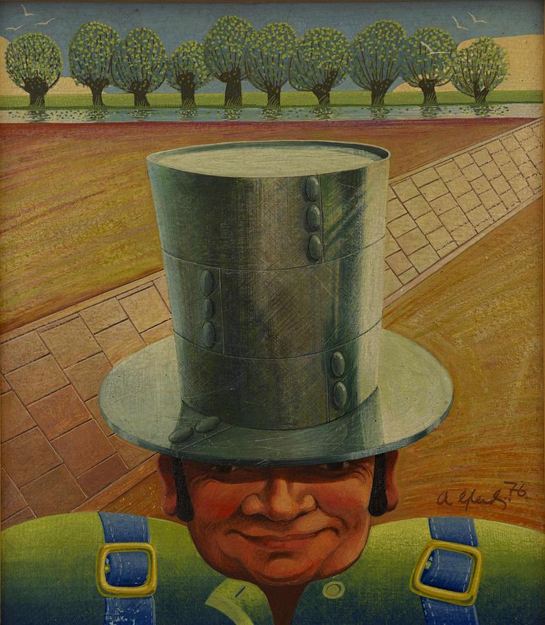 Steel Painting - Steely Dan The Straightway Man by Arthur Glendinning