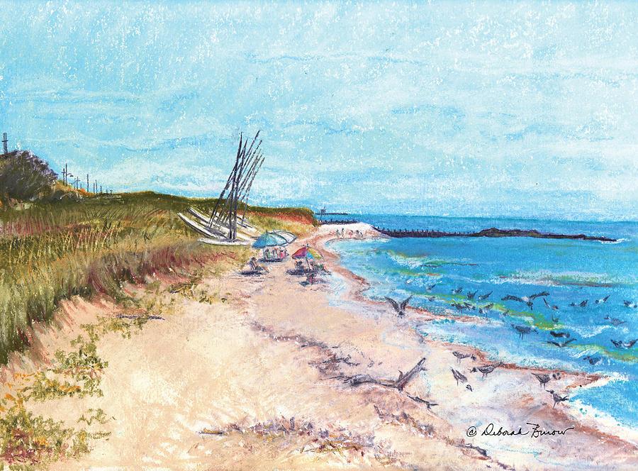 Beach Painting - Steep Beach by Deborah Burow