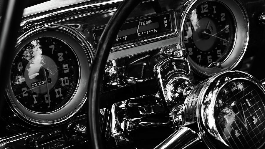 Steering Wheel And Dashboard Of Antique Photograph by Alex Browne / Eyeem