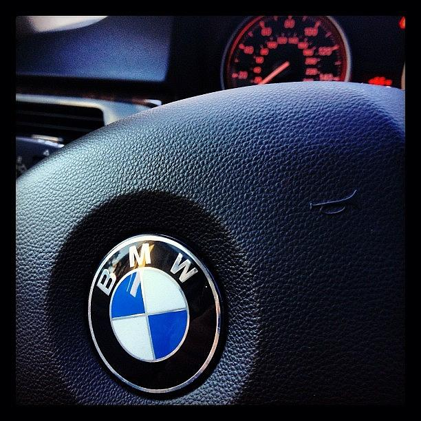 Vehicles Photograph - Steering Wheel Of A 2009 328i Bmw By by Foto Funnel