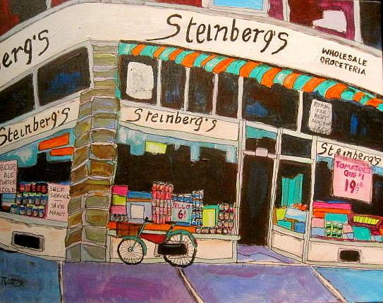 Montreal Painting - Steinberg Groceteria Montreal Memories by Michael Litvack