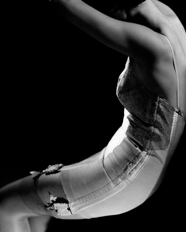Stella Bayliss Modeling A Corset Dress Photograph by Edward Steichen
