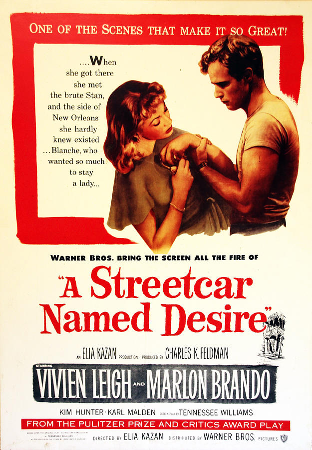 Movie Poster Photograph - Stellaaaaa - A Streetcar Named Desire by Debbie Oppermann