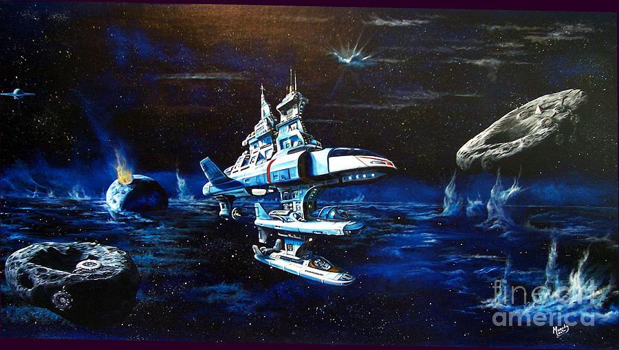 Alien Painting - Stellar Cruiser by Murphy Elliott