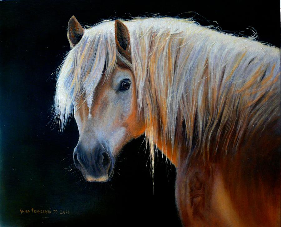 Equine Painting - Stelvio by Anna Franceova