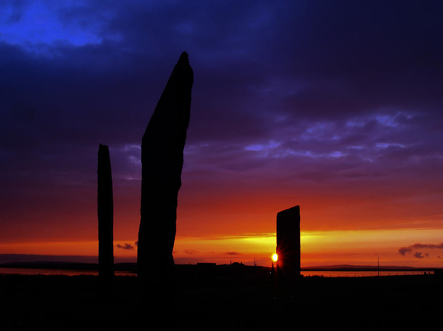 Stones Photograph - Stennes Sunset by Steve Watson