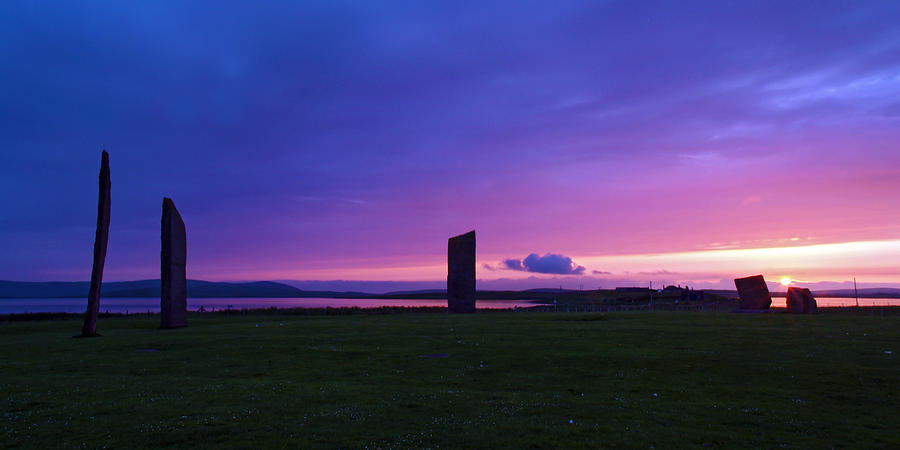 Sunset Photograph - Stenness Sunset 3 by Steve Watson
