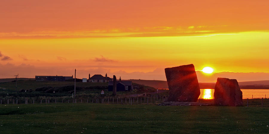 Sunset Photograph - Stenness Sunset 4 by Steve Watson