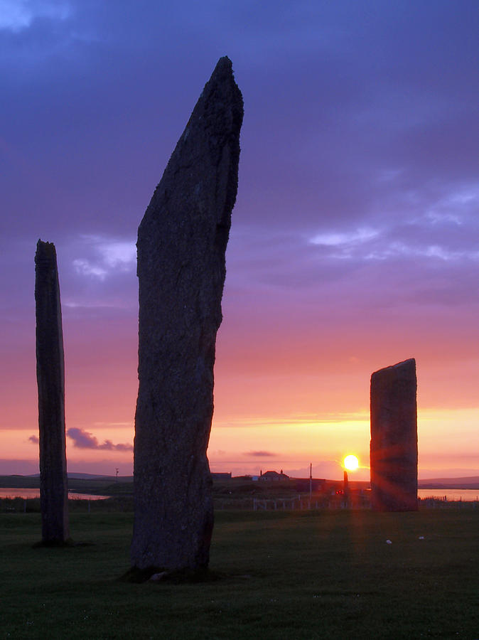 Sunset Photograph - Stenness Sunset 5 by Steve Watson