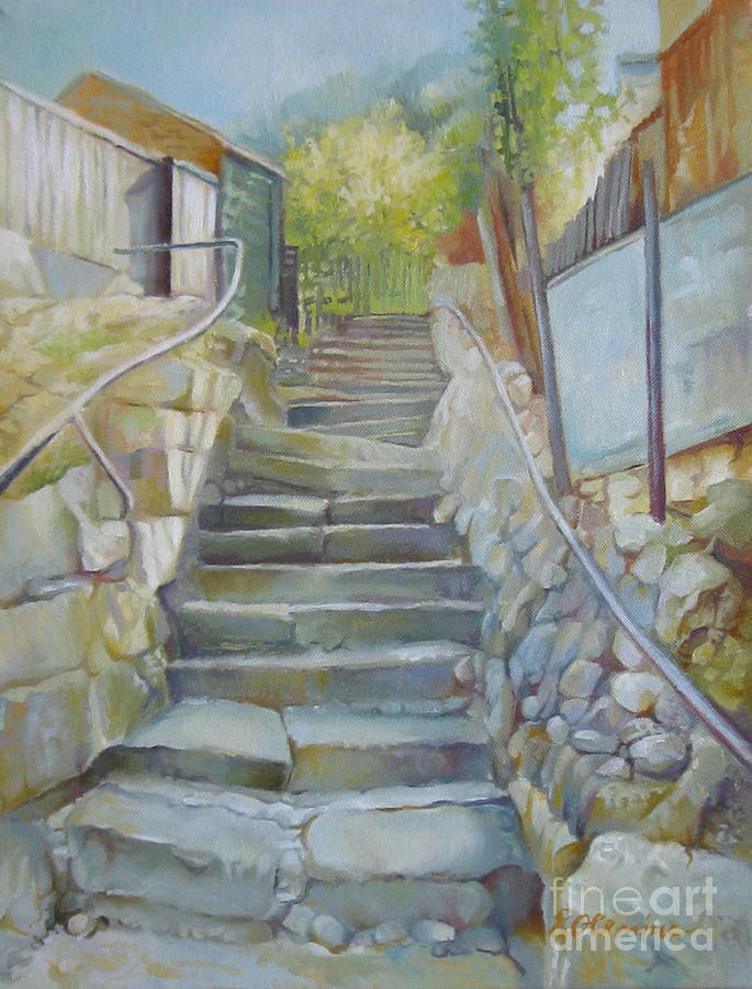 Stairs Painting - Step By Step by Elena Oleniuc