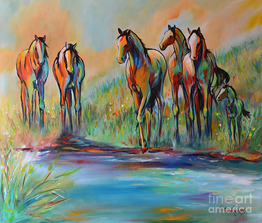 Horse Painting - Step Of Faith by Cher Devereaux