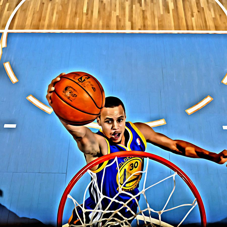 National Painting - Steph Curry by Florian Rodarte