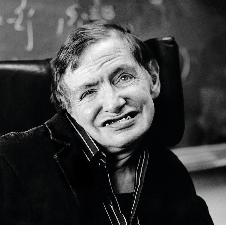 Stephen Hawking Photograph - Stephen Hawking by Lucinda Douglas-menzies