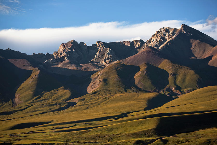 Steppe Valley With Surrounding Peaks Photograph by Merten Snijders