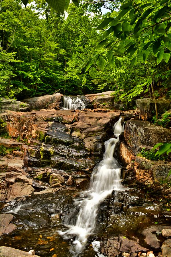 Waterfall Photograph - Stepped Falls - Ellsworth New Hampshire by Naturally NH