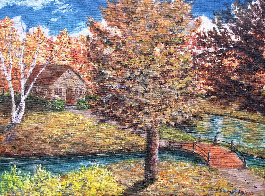 Fall Painting - Stepping Into Autumn by Kevin F Heuman