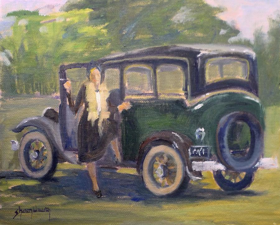 Roaring Twenties Painting - Stepping Out by Sharon Weaver