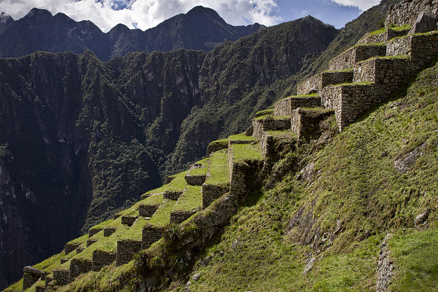Machu Picchu Photograph - Steps To The Past  by Kim Andelkovic